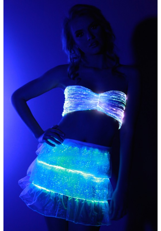 Fiber Optic Ruffle Skirt