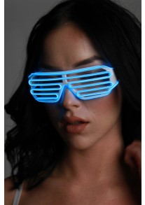 Light-up Shutter Glasses - Blue