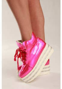 Pink Hologram LED Light-up Shoes