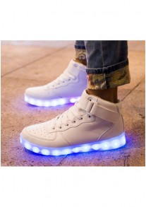 Light-up Midtop Shoes - White