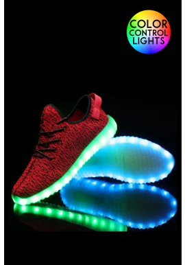 Light-up Sneaker Shoes Red & Light Up Shoes-NeonNancy.com azcodes.com