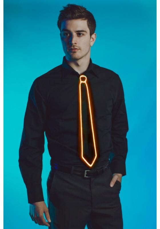 Light Up Tie Orange