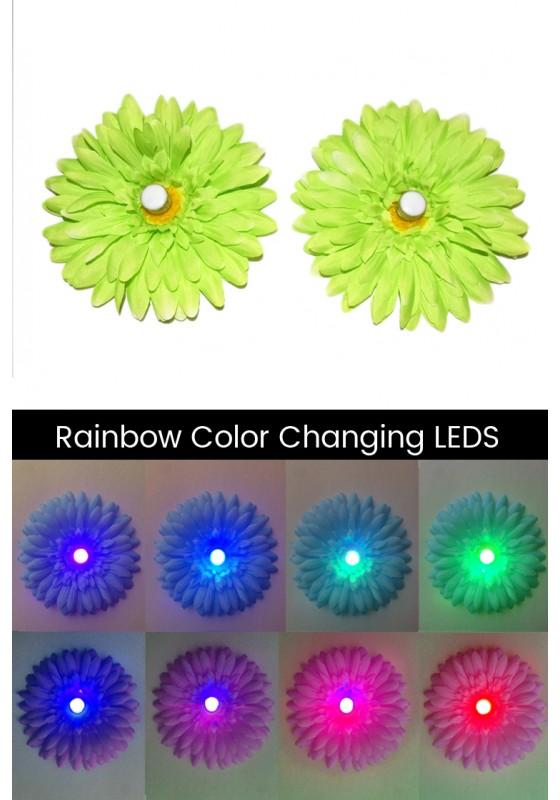 LED Light-up Daisy Pasties - Green