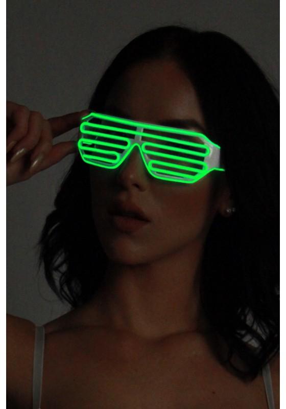 Light-up Shutter Glasses - Green