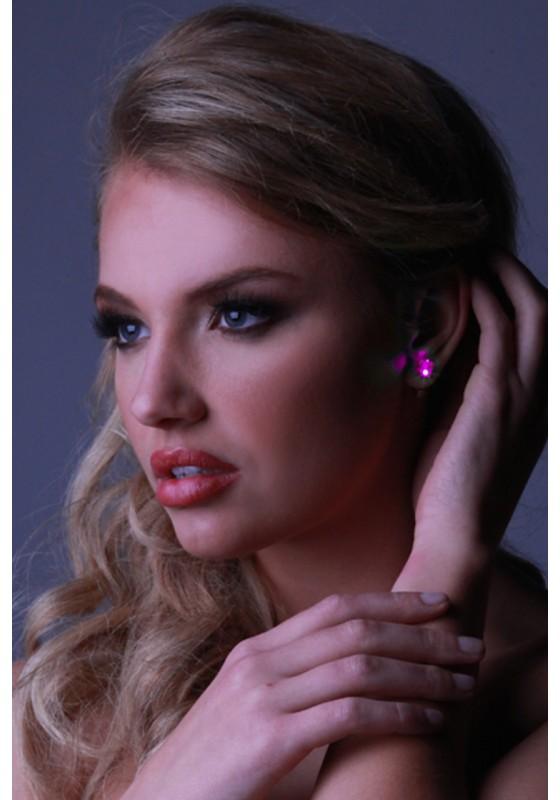 LED Earrings-Pink