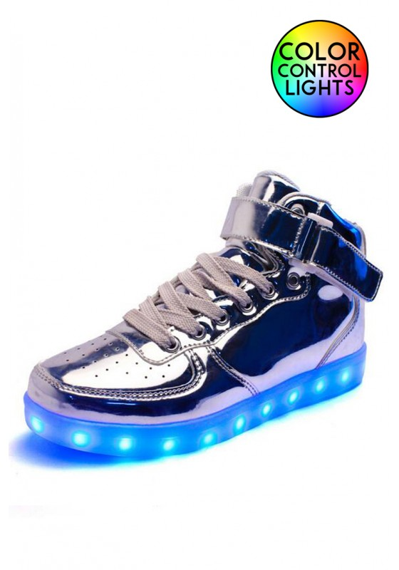 81178b41692 Light-up High Top Shoes Silver